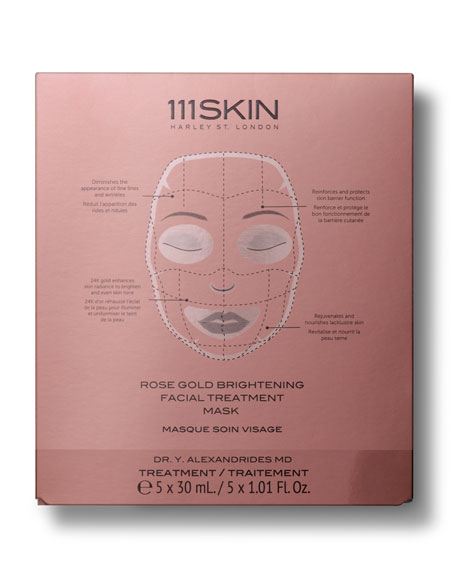 111SKIN Rose Gold Brightening Facial Treatment Mask, Five