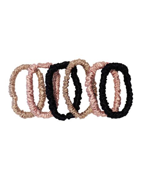 Slip Silk Small slipsilk&#153 Scrunchies - Black, Pink, Caramel