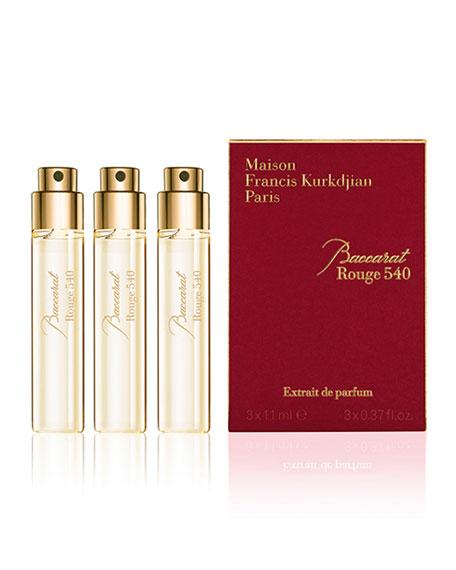 Maison Francis Kurkdjian Baccarat Rouge 540 Extrait de Parfum Refills, 3 x 0.37 oz./ 11 mL