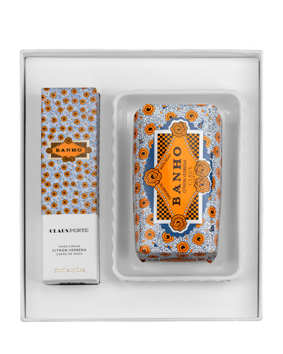 BANHO Hand Cream  Soap and Dish Gift Set