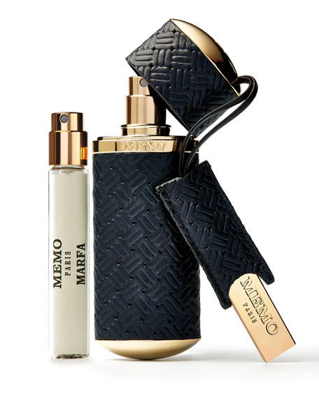 Memo Paris Navy Knitted Refillable Travel Case