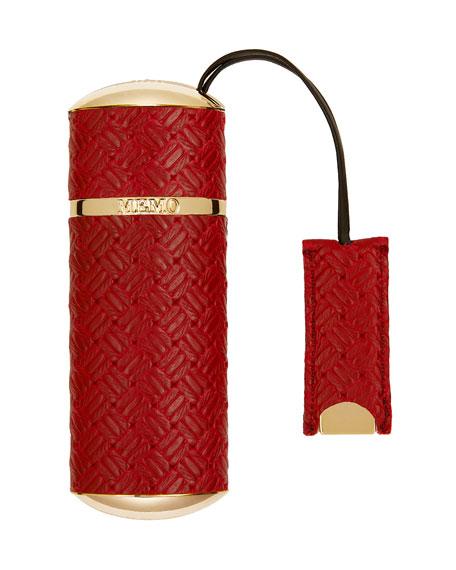 Memo Paris Red Knitted Refillable Travel Spray