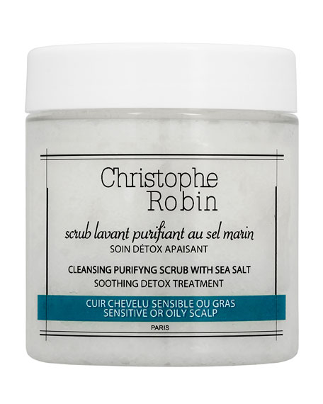 Christophe Robin Cleansing Purifying Scrub with Sea Salt Travel Size, 2.7 oz./ 75 mL