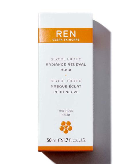 REN Glycol Lactic Radiance Renewal Mask, 1.7 oz./ 50 mL