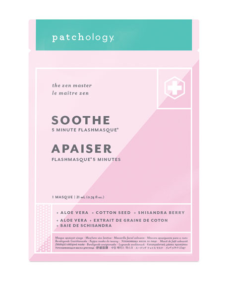 Image 2 of 2: Patchology Soothe FlashMasque Facial Sheet Mask, Single Pack
