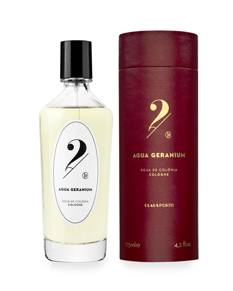 Claus Porto No 2 Agua Geranium Cologne, 4.2 oz./ 125 mL