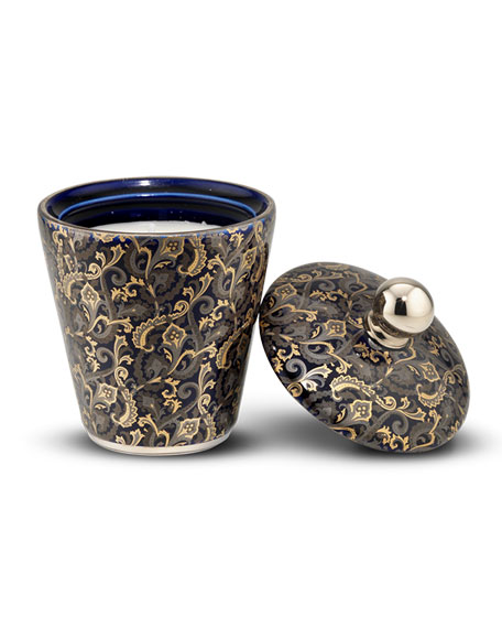 Stefano Ricci Multicolor Paisley Royal Eagle Black Candle