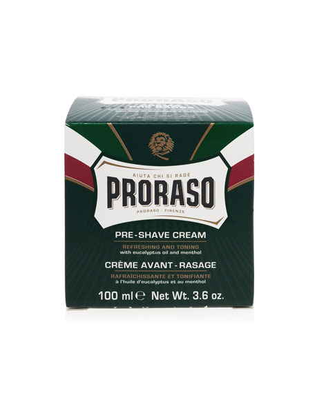 Proraso Pre-Shave Cream Refreshing and Toning Formula, 3.6 oz./ 100 mL