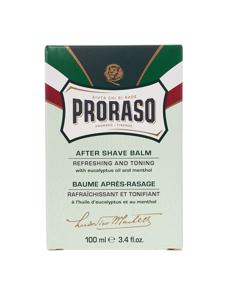 Proraso After Shave Balm Refreshing and Toning Formula, 3.4 oz./ 100 mL