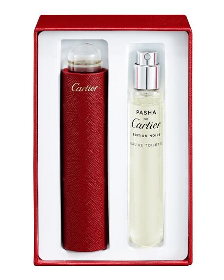 Cartier Pasha Edition Noire Eau de Toilette Set, 2 x 0.5 oz.