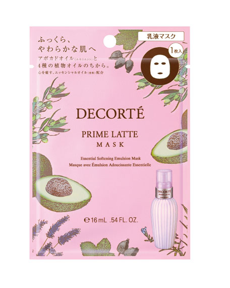 DECORTE Prime Latte Sheet Mask, 12 Count