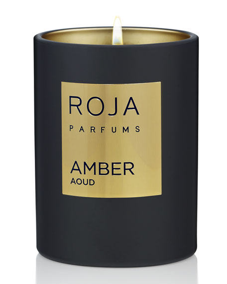 Roja Parfums Amber Aoud Candle, 7.8 oz./ 220 g