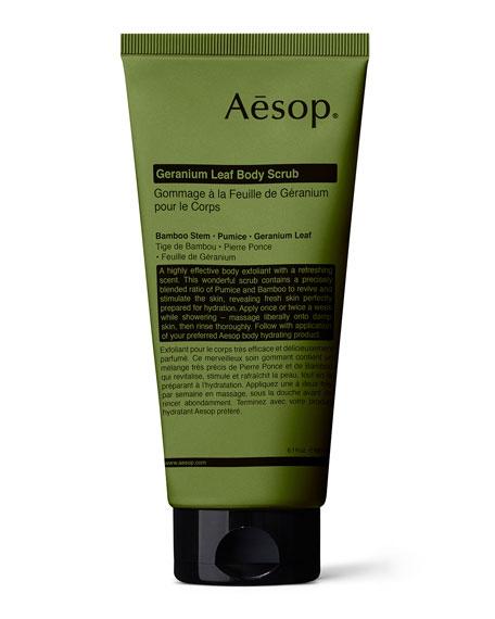 Aesop Geranium Leaf Body Scrub, 6 oz./ 180 mL