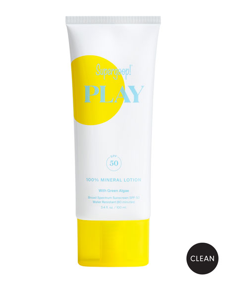 Supergoop! Play 100% Mineral Lotion SPF 50, 3.4 oz./ 100 mL