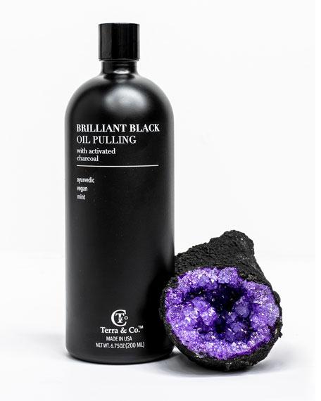 Terra & Co. Brilliant Black Oil Pulling, 6.75 oz./ 200 mL