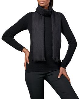 Gucci GG Pattern Scarf, Black