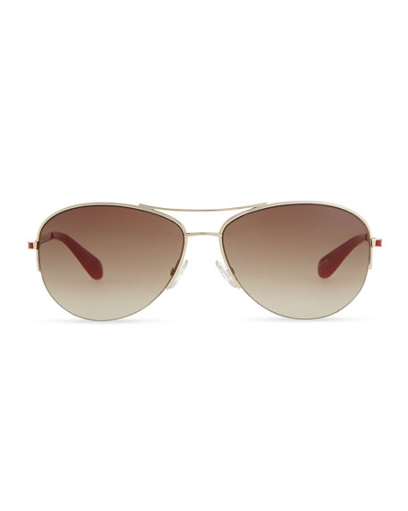 Enameled Aviator Sunglasses