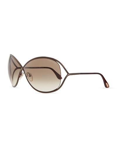 Tom Ford Miranda Sunglasses, Bronze