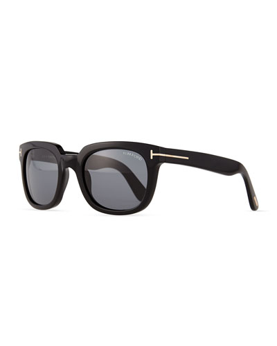 Tom Ford Campbell Metal-Detail Sunglasses
