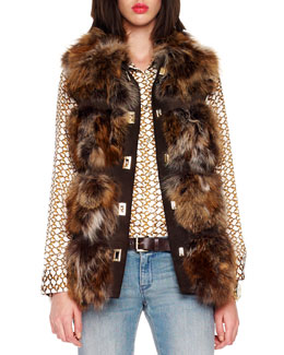 Pologeorgis  Fox Fur Lodge Vest