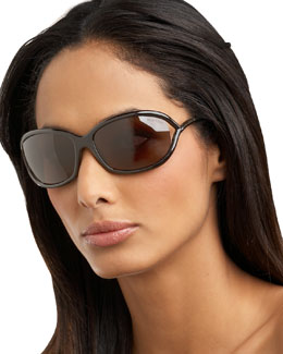 Tom Ford Jennifer Sunglasses, Dark Brown
