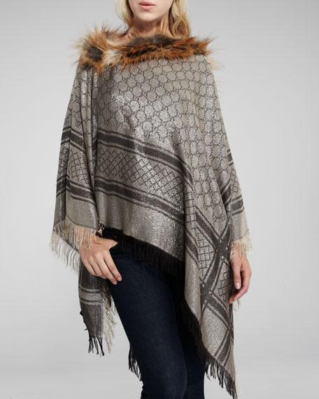 a539abba3d2 Gucci Fox Fur-Trim Poncho