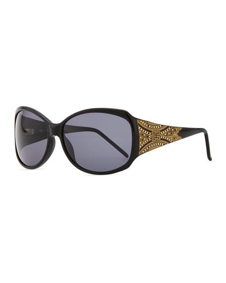 Embossed-Temple Sunglasses
