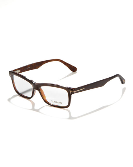 Unisex Soft Rectangular Fashion Glasses, Brown