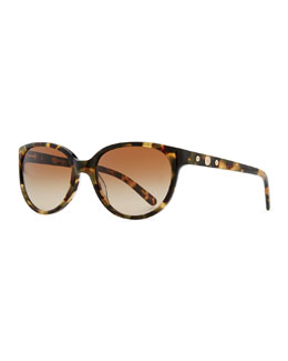 Tory Burch Thin Oval Sunglasses