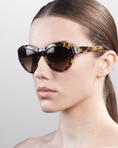 Tory Burch Rounded Cat-Eye Sunglasses