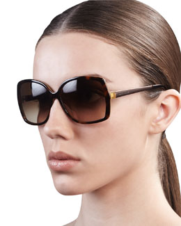 kate spade new york darrys oversize-square sunglasses