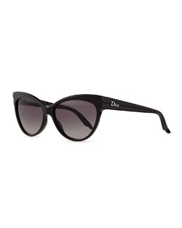 Dior Cat-Eye Sunglasses, Black