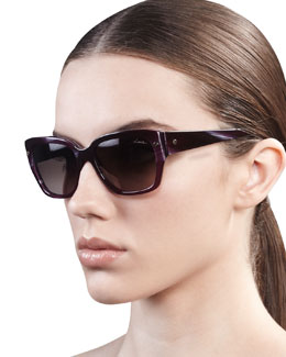Lanvin Screwpin Modified Cat-Eye Sunglasses