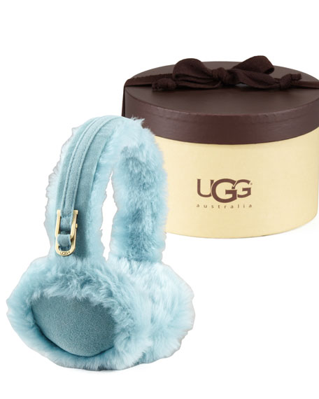 Classic Boxed Shearling Earmuffs, Patina