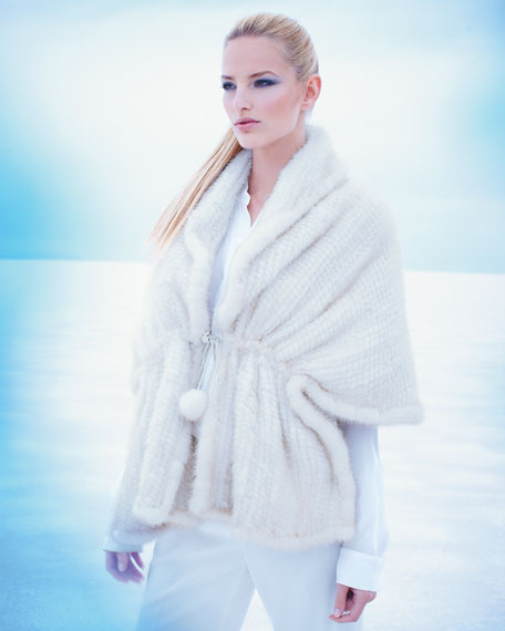 Knitted Mink Shawl