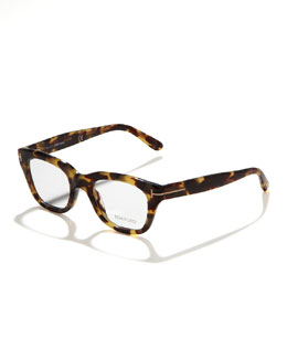 Tom Ford Unisex Semi-Squared Fashion Glasses, Brown/Pink