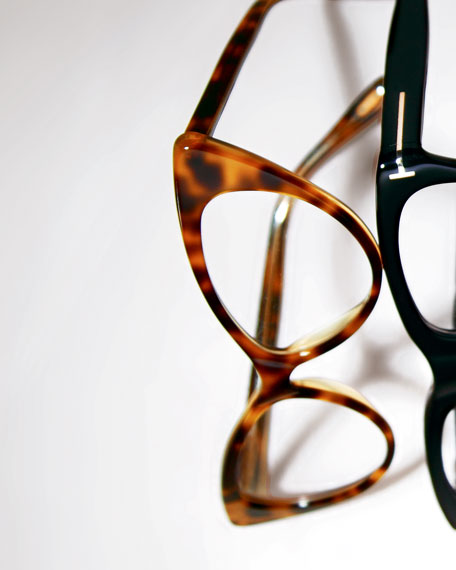 Cat-Eye Fashion Glasses, Light Havana