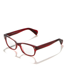Oliver Peoples Wacks Fashion Glasses, Red