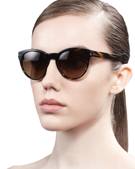 Alivia Cat-Eye Sunglasses, Brown