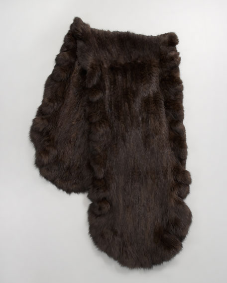 Knitted Sable Fur Stole