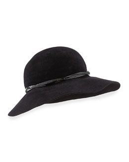 Eric Javits Moxi Lightweight Velour Hat, Black
