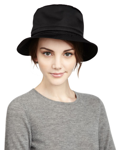 Water-Repellant Rain Hat, Black