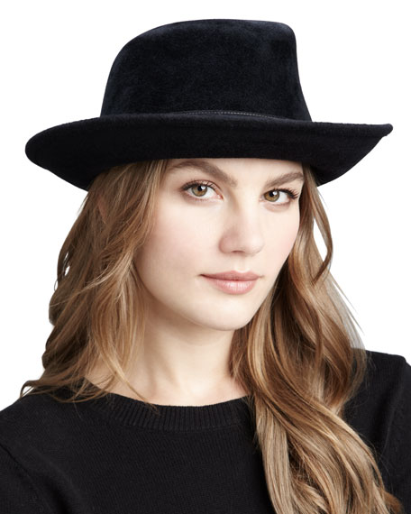 Tracy Velour Belted Hat