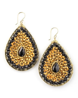 Nakamol Beaded Teardrop Earrings