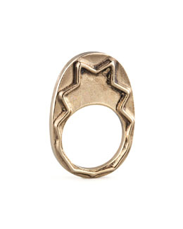 House of Harlow Zigzag Stacking Ring