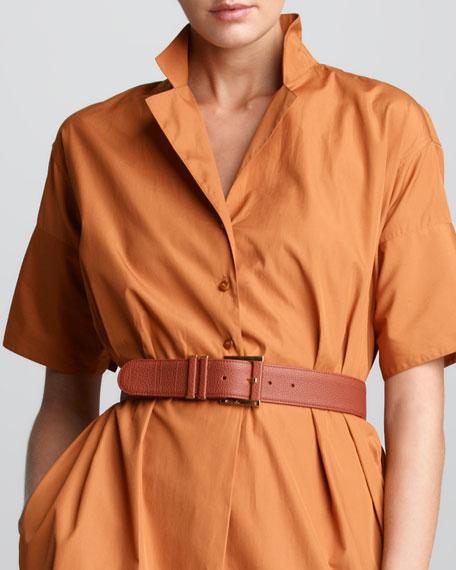 Maude Pebbled Leather Belt