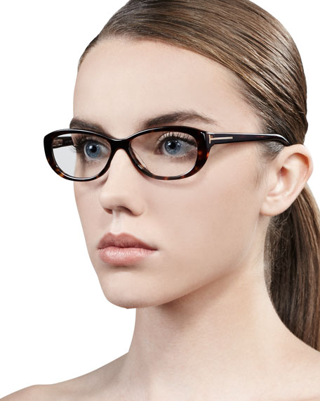 Soft Rounded Fashion Glasses, Havana