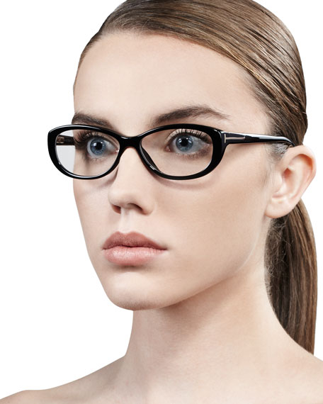 Soft Rounded Fashion Glasses, Black