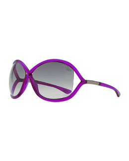 Tom Ford Whitney Bold Sunglasses, Magenta