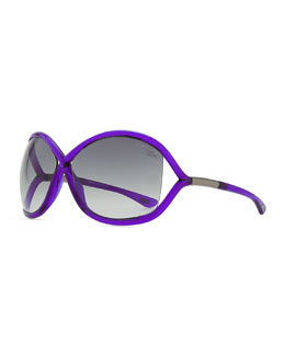 Tom Ford Whitney Bold Sunglasses, Purple